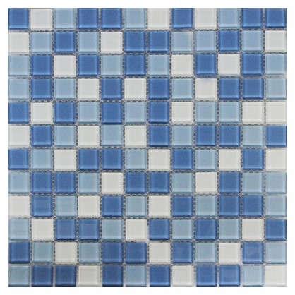 Мозаика Artens Shaker 30х30 см стекло цвет белый/голубой