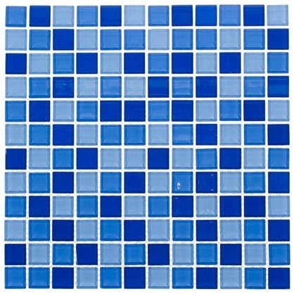 Мозаика Artens Shaker 30х30 см стекло цвет синий/голубой