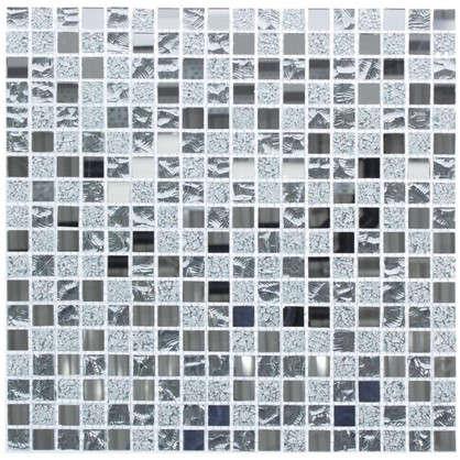 Мозаика Artens Silver 30х30 см стекло цвет серый