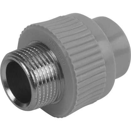 Муфта комбинированная FV-Plast -Plast наружная резьба 20х3/4 полипропилен