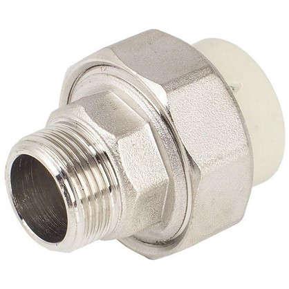 Муфта комбинированная FV-Plast -Plast наружная резьба 25х3/4 полипропилен