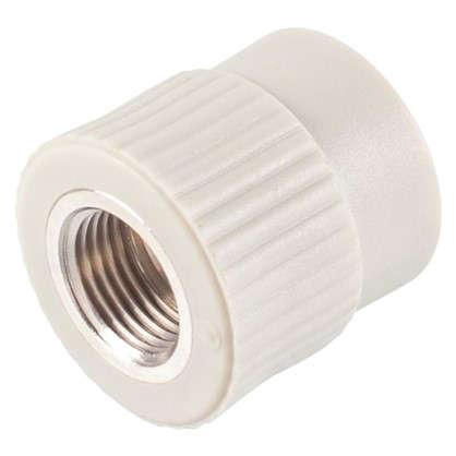 Купить Муфта комбинированная FV-Plast внутренняя резьба 25х1/2 мм полипропилен дешевле
