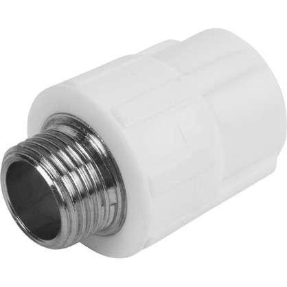 Муфта комбинированная наружная резьба 20х1/2 мм полипропилен