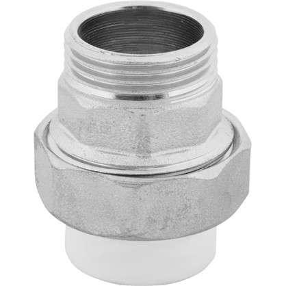 Муфта комбинированная разъемная наружная резьба 20x3/4 мм полипропилен