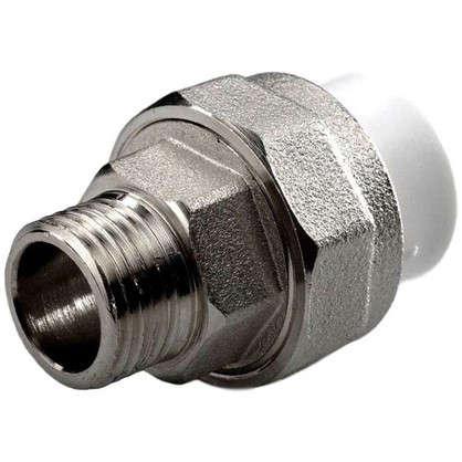 Муфта комбинированная разъемная наружная резьба 25х1 мм полипропилен