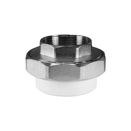 Купить Муфта комбинированная разъемная раструбная внутренняя резьба 20 мм х 3/4 полипропилен дешевле