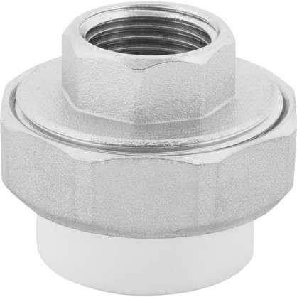 Муфта комбинированная разъемная внутренняя резьба 25х1/2 мм полипропилен