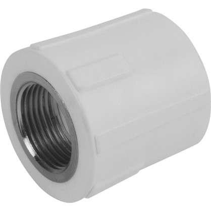 Муфта комбинированная внутренняя резьба 20х3/4 мм полипропилен