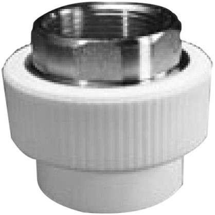 Муфта комбинированная внутренняя резьба  под ключ 40x1 1/4 мм полипропилен