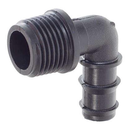 Муфта переходная 90° для капельной трубки наружная резьба 16 мм x 1/2 дюйма