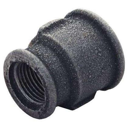 Муфта переходная внутренняя резьба 3/4х1/2 мм ковкий чугун цвет черный