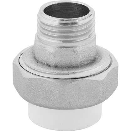 Муфта разъмная наружная резьба 20х1/2 мм полипропилен