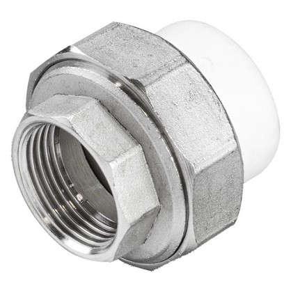 Муфта разъмная внутренняя резьба 25х3/4 мм полипропилен