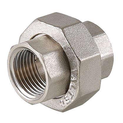 Муфта разъемная внутренняя-внутренняя резьба 1/2 никелированная латунь