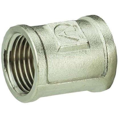Муфта Valtec внутренняя резьба 1/2 мм никелированная латунь