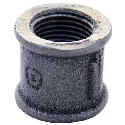 Купить Муфта внутренняя резьба 1/2 мм чугун цвет черный дешевле