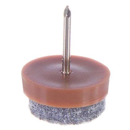 Набойки фетровые Standers 20 мм круглые войлок цвет коричневый 8 шт.