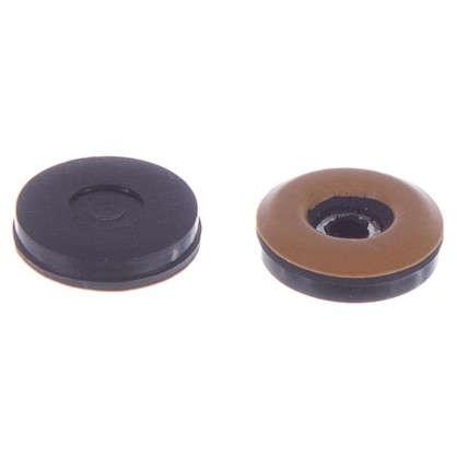 Набойки Standers PTFE 25 мм круглые пластик цвет коричневый 4 шт.