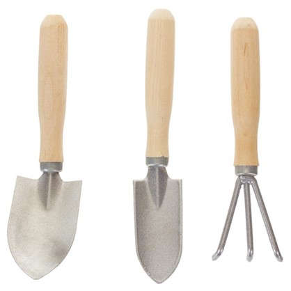 Набор цветовода-огородника 15 см нержавеющая сталь 3 предмета