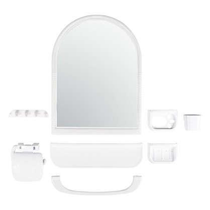 Набор для ванной комнаты с зеркалом закругленный