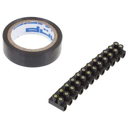 Купить Набор электромонтажный: индикаторная отвёртка клеммная колодка изолента дешевле