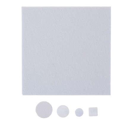 Купить Набор фетровых набоек круглые/квадратные войлок цвет белый 92 шт. дешевле