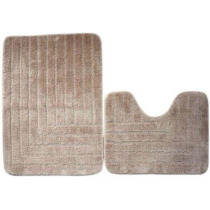 Набор ковриков для ванной Katya 50х40 см 50х70 см цвет белый