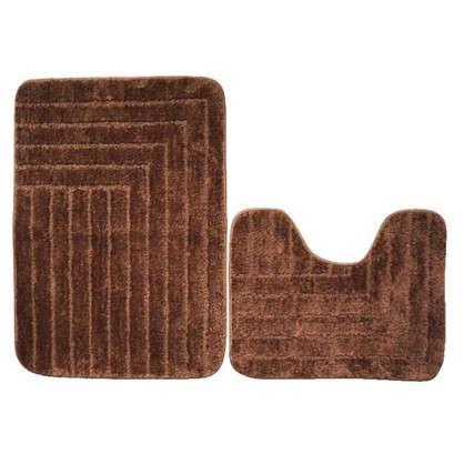 Набор ковриков для ванной Katya 50х40 см 50х70 см цвет коричневый