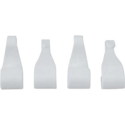 Набор крючков пластик цвет белый 4 шт.