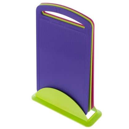 Набор разделочных досок 240х335 мм цвет фиолетовый/фуксия/салатовый цена