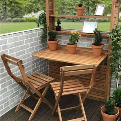 Купить Набор садовой мебели Порто Компакт Плюс 3 предмета акация дешевле