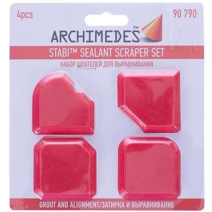 Купить Набор шпателей Archimedes 4 шт. для выравнивания межплиточных швов дешевле