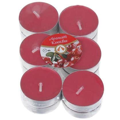 Набор свечей чайных ароматизированных Клюква 12 шт.