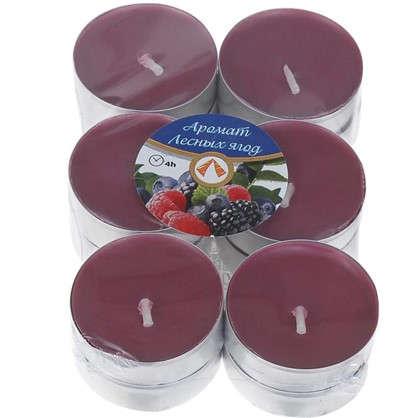 Набор свечей чайных ароматизированных Лесная ягода 12 шт.