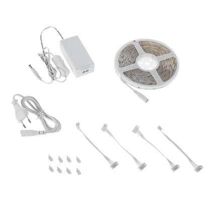 Набор светодиодной ленты 5 м 350Лм/30LED/м свет теплый белый IP65