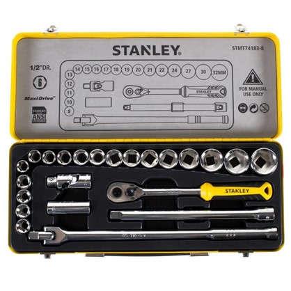 Набор торцевых головок Stanley 1/2 дюйма 24 предмета