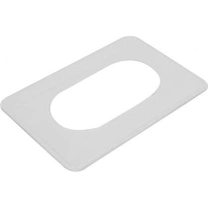 Накладка для розетки №2 2 поста цвет прозрачный