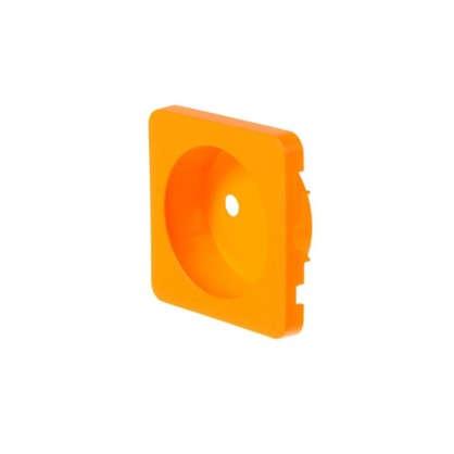 Накладка для розетки Lexman без заземления цвет оранжевый