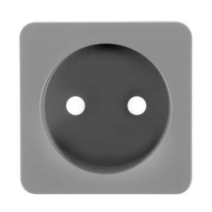 Накладка для розетки Lexman без заземления цвет серый