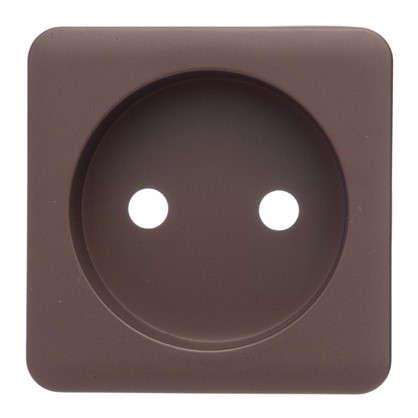 Накладка для розетки Lexman без заземления цвет шоколадный
