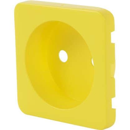 Накладка для розетки Lexman с заземлением цвет лимонный