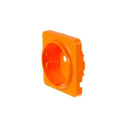 Накладка для розетки Lexman с заземлением цвет оранжевый