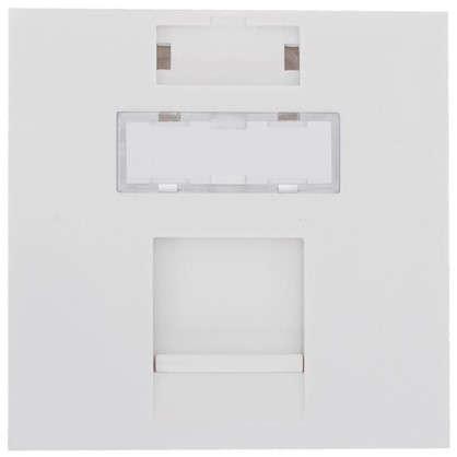 Накладка для розетки телефонной и компьютерной LK Studio LK45 RJ 45х45 мм цвет белый