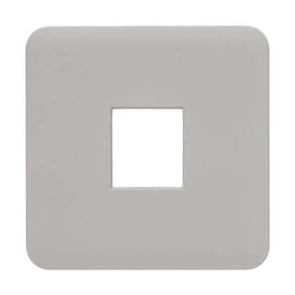 Накладка для телефонной розетки Lexman RJ11-12-45 цвет серый