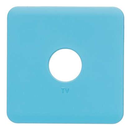 Накладка для ТВ розетки Lexman цвет бирюзовый