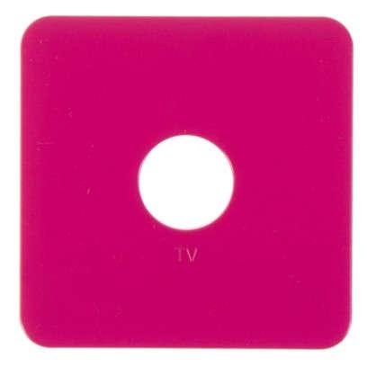 Накладка для ТВ розетки Lexman цвет фуксия