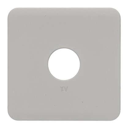 Накладка для ТВ розетки Lexman цвет серый