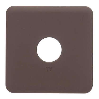Накладка для ТВ розетки Lexman цвет шоколадный