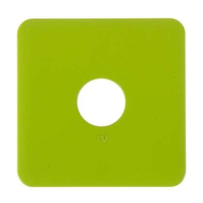 Накладка для ТВ розетки Lexman цвет зелёный