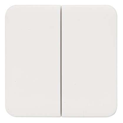 Накладка для выключателя/переключателя Lexman 2 клавиши цвет белый